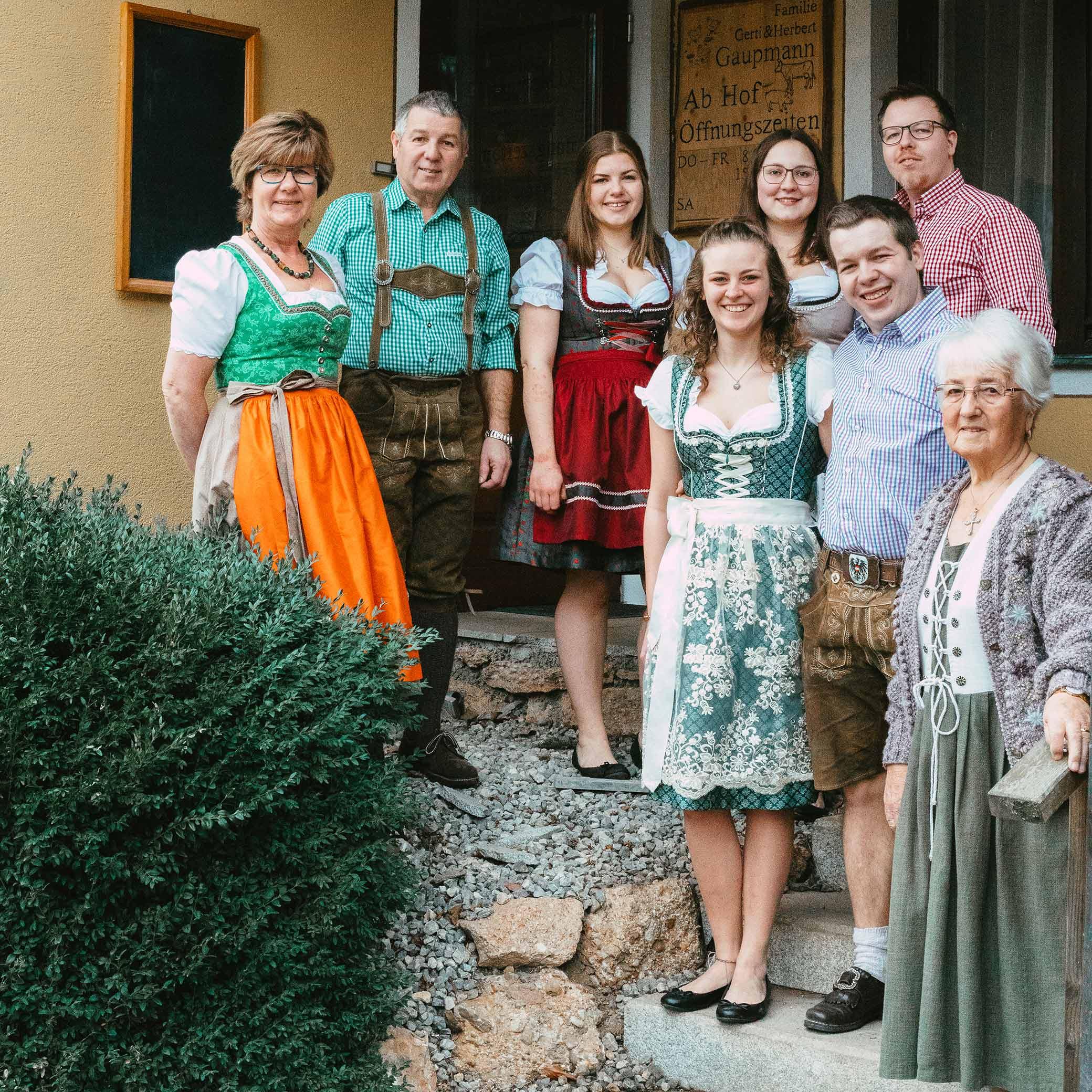 Familienfoto der Familie Gaupmann