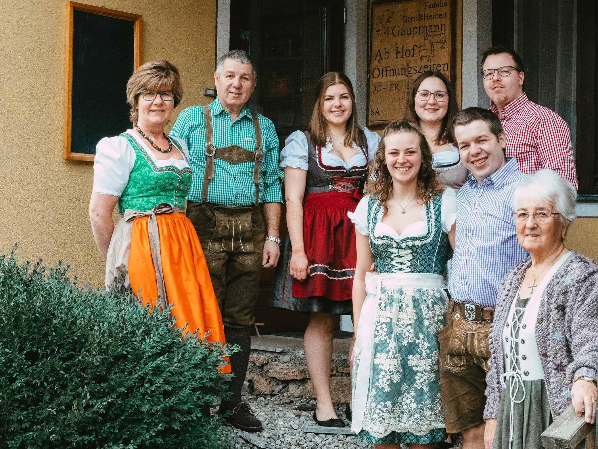 Familienfoto der Gaupmanns